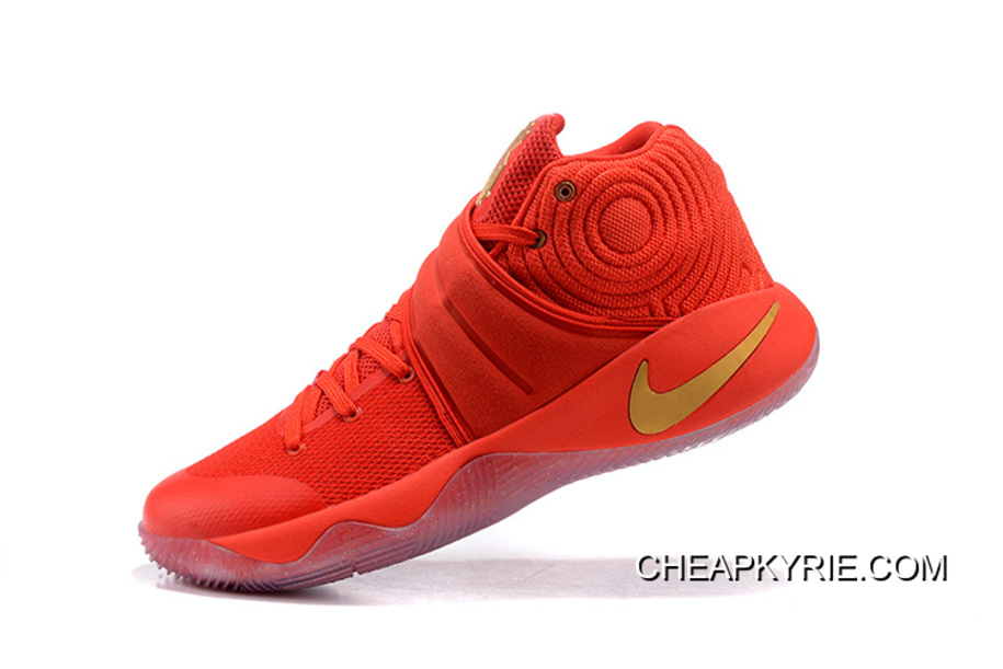 "the latest 9e504 11c9a Nike Kyrie 2 ""Gold Medal"" University Red/Metallic Gold Super Deals"