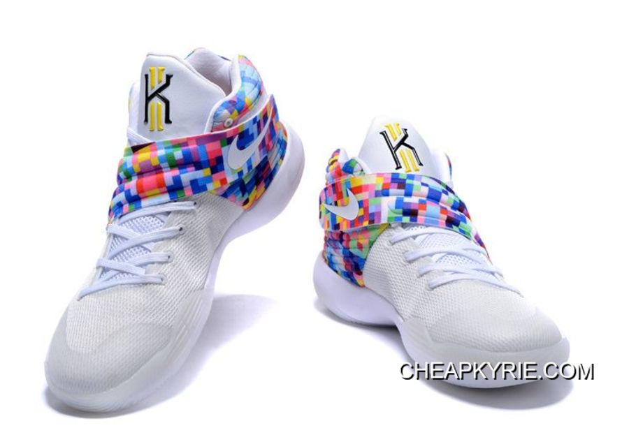 "sale retailer 77903 eb929 Nike Kyrie 2 ""Effect"" White-Red/Multi-Color Best"