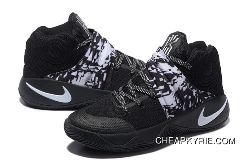 best sneakers b901e f47a2 Nike Kyrie 2 Black White Men s Basketball Shoes Copuon Code