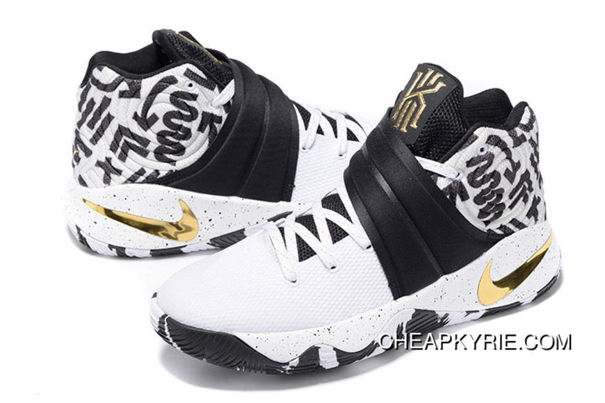 Nike Kyrie 2 ID Camo White Black And Gold Lastest