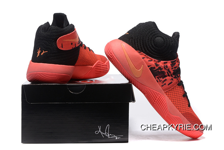 sports shoes b8132 b7ca4 Nike Kyrie 2 Inferno Bright Crimson/Atomic Orange-Black Free Shipping