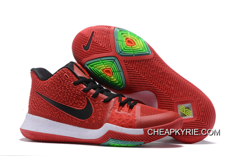 Nike Kyrie 3 White University Red Black
