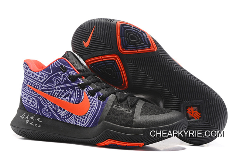 "online retailer 39972 e5fea Nike Kyrie 3 ""Hamsa Hand"" Tattoo Basketball Shoes For Sale"