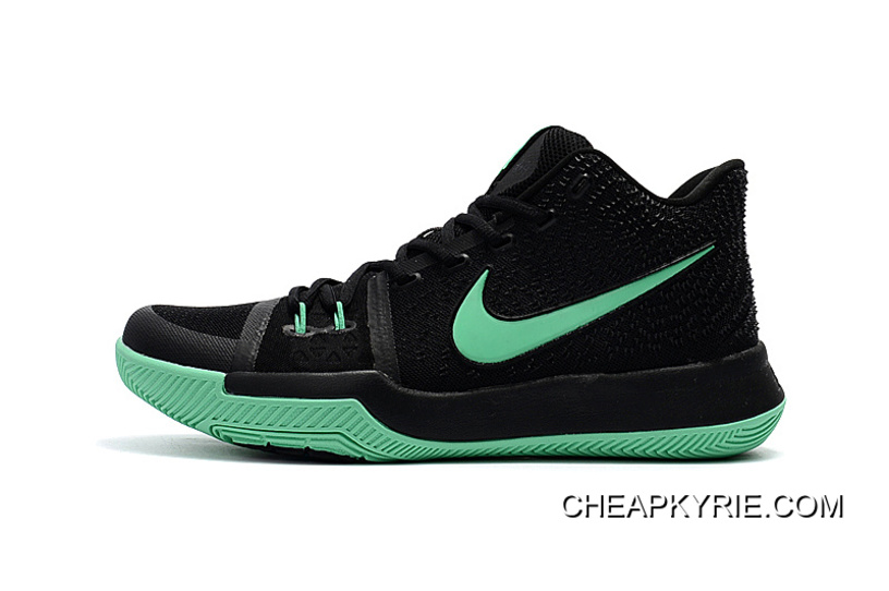 "half off df39b c323f Nike Kyrie 3 ""Black Green""Shoes For Men For Sale"