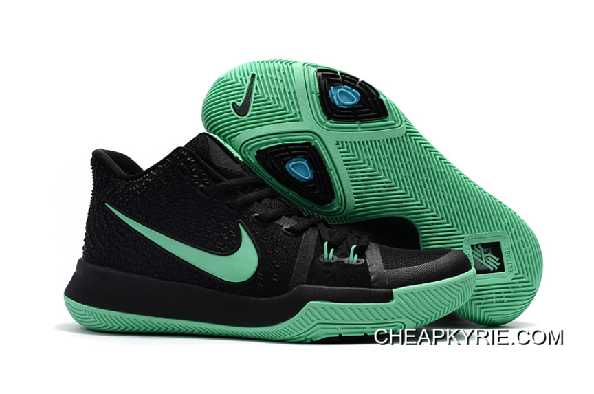 Cheap Nike Kyrie 3 Black Green For Sale New Style