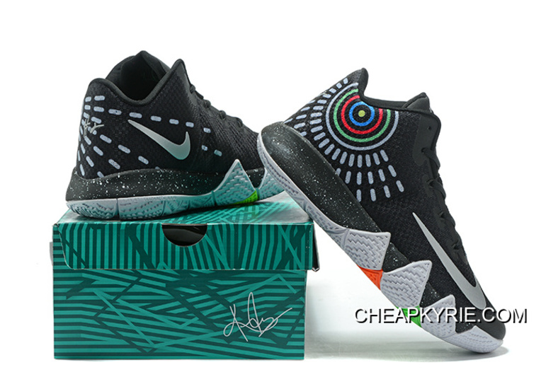 free shipping d5373 fb3a8 Nike Kyrie 4 Mens Basketball Shoes Black Top Deals