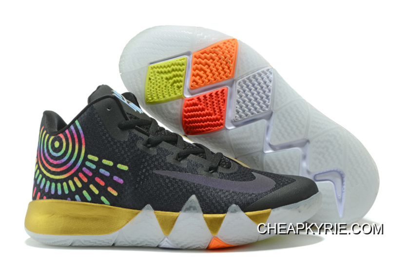 39919335632372 Nike Kyrie 4 Mens Basketball Shoes Black Gold Authentic, Price ...