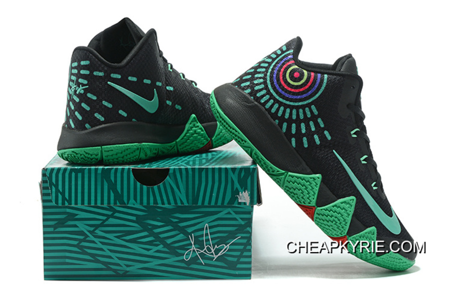 super popular 435a1 b4ee0 Nike Kyrie 4 Black Green Red New Release
