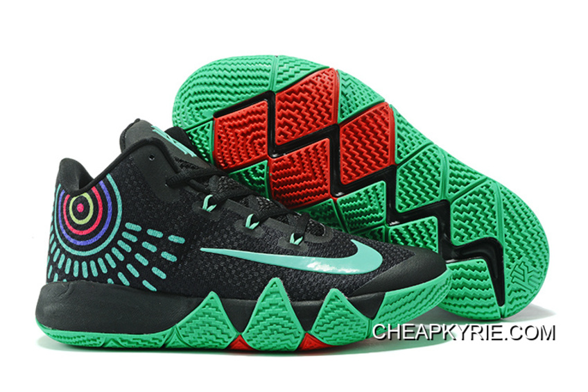 824a0eb7e8d3 Nike Kyrie 4 Black Green Red New Release