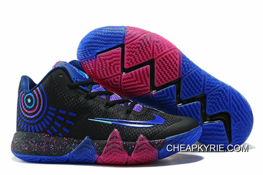 "check out 19e38 9ac5c New Release Nike Kyrie 4 ""Flip The Switch"" Black/Photo Blue Free Shipping"