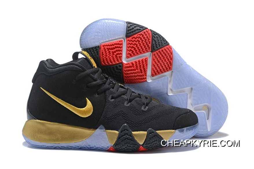 brand new 22ff1 602c7 Copuon Nike Kyrie 4 Black Gold Red