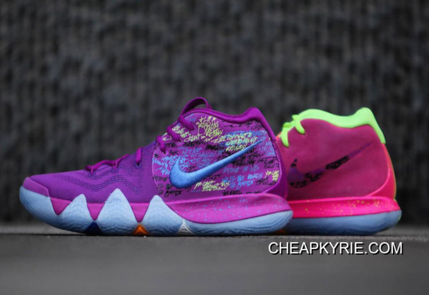 """best sneakers 7c483 68086 New Release Nike Kyrie 4 """"Confetti"""" Multi-Color"""