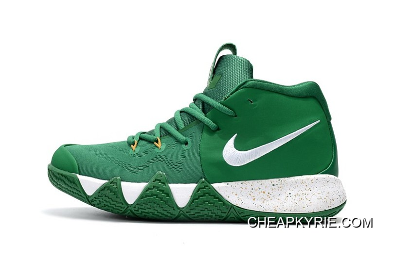 "best sneakers 2f177 b8b07 Nike Kyrie 4 ""Celtics"" PE Green White-Gold New Year Deals"
