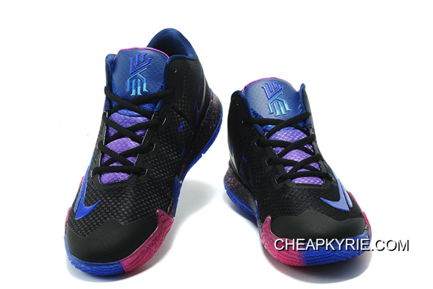 "buy online 9d033 c5df0 New Release Nike Kyrie 4 ""Flip The Switch"" Black Photo Blue"