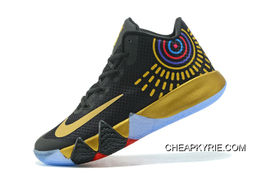 """the best attitude aa8fe f7693 Nike Kyrie 4 """"Black Gold"""" Free Shipping"""