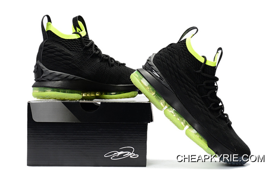 cheaper 5fa7c d704d Nike LeBron 15 Black Volt Shoes Online Cheap To Buy