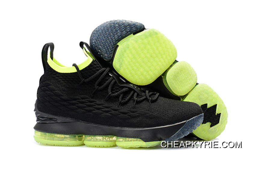 cheaper 9ea3d ae677 Nike LeBron 15 Black Volt Shoes Online Cheap To Buy