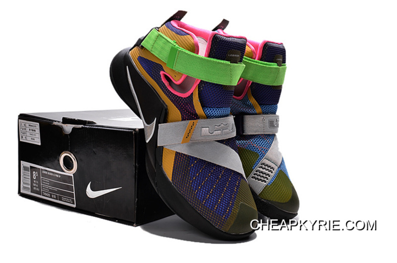 """449ad3152d8 Nike LeBron Soldier 9 """"What The LeBron"""" Multi Color Black-White Basketball"""