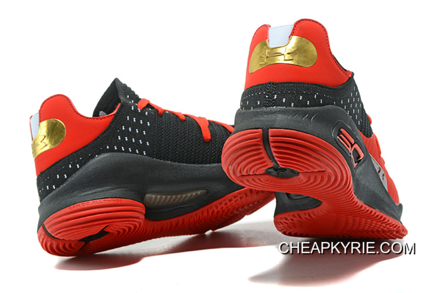the best attitude 81798 6bbc5 Under Armour Curry 4 Low Red Black Basketball Shoes Super Deals